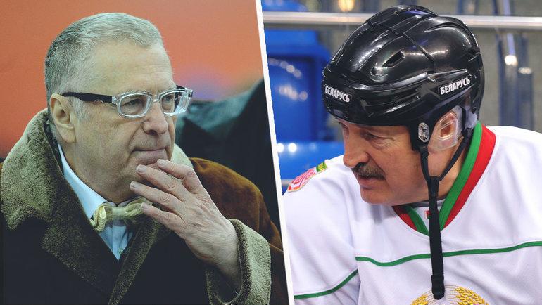 Владимир Жириновский иАлександр Лукашенко.