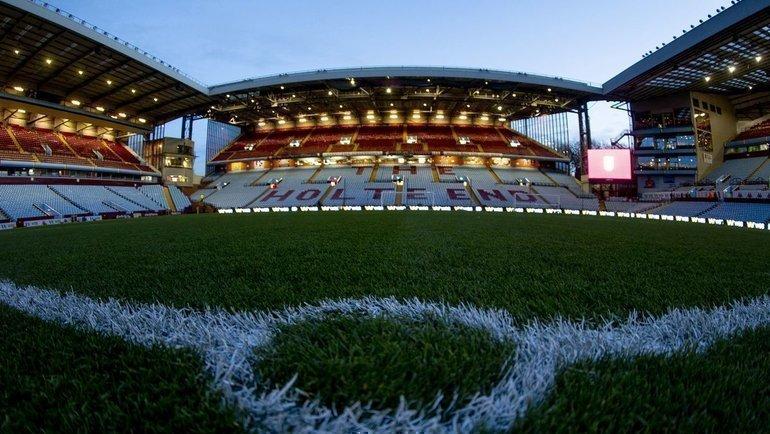 Пустой стадион вАнглии. Фото Birmingham Mail