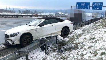 Защитник «Баварии» Боатенг попал вДТП налетней резине вовремя снегопада