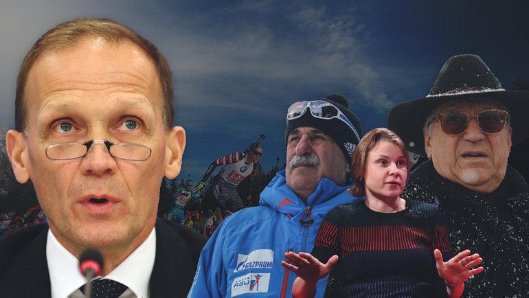 Тренеры иветераны биатлона призвали Владимира Драчева (слева) уйти вотставку споста президента СБР.