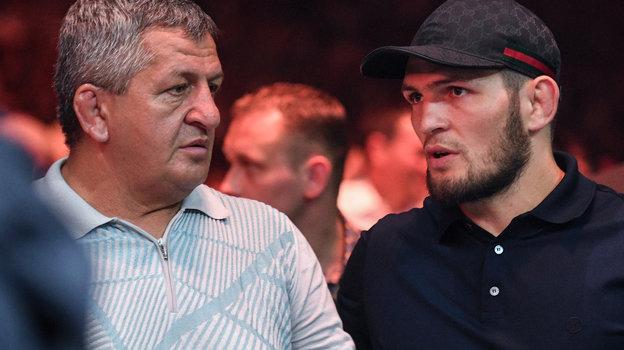 Абдулманап Нурмагомедов (слева) иХабиб Нурмагомедов. Фото Дарья Исаева, «СЭ»