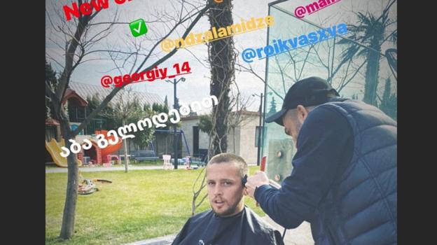 Джано Ананидзе предложил Георгию Джикии поучаствовать в челлендже. Фото instagram.com