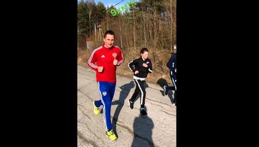 Владимир Быстров показал свою тренировку. Игрок пробежал 9км ипоел раков