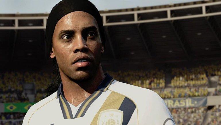 Роналдинью вфутбольном симуляторе FIFA. Фото EASports