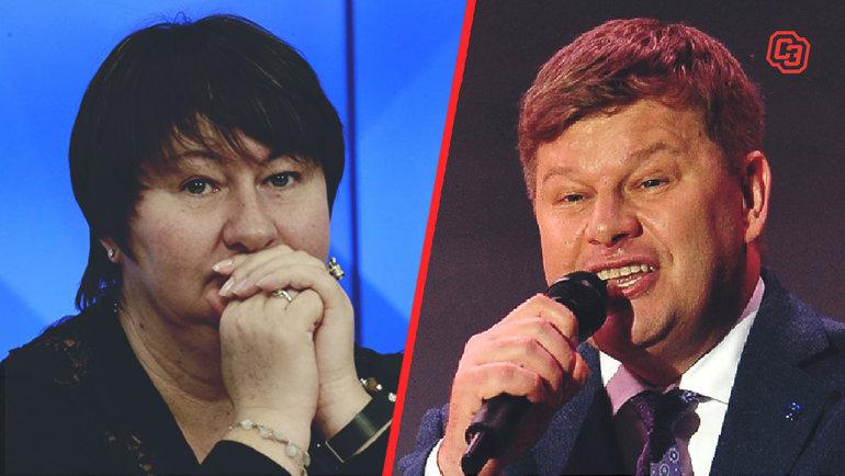 Елена Вяльбе иДмитрий Губерниев.