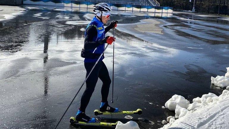 Тренировки белорусского биатлониста Антона Смольского. Фото Instagram