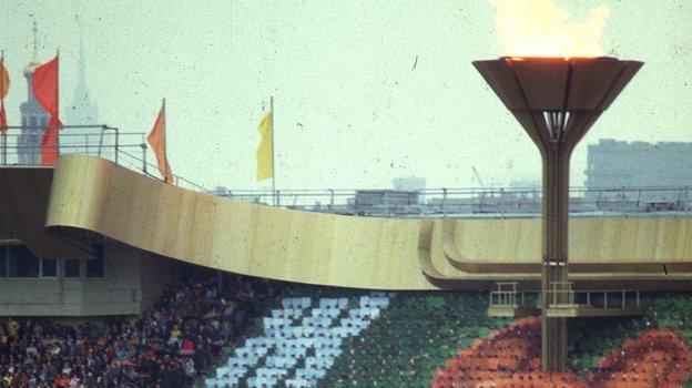 19июля 1980 года. Москва. Чаша Олимпийского огня. Фото Сергей Киврин/Евгений Миранский