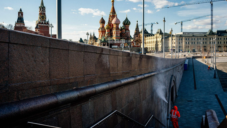 Китайские медики оценили меры поборьбе скоронавирусом вМоскве. Фото AFP