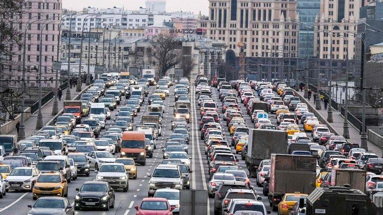 Пробки вМоскве. Фото AFP