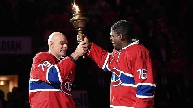 "Андрей Марков и Пи Кей Суббан в ""Монреале"". Фото НХЛ"