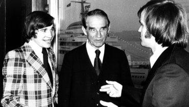 Евгений Ловчев (слева) иначальник «Спартака» Николай Старостин.