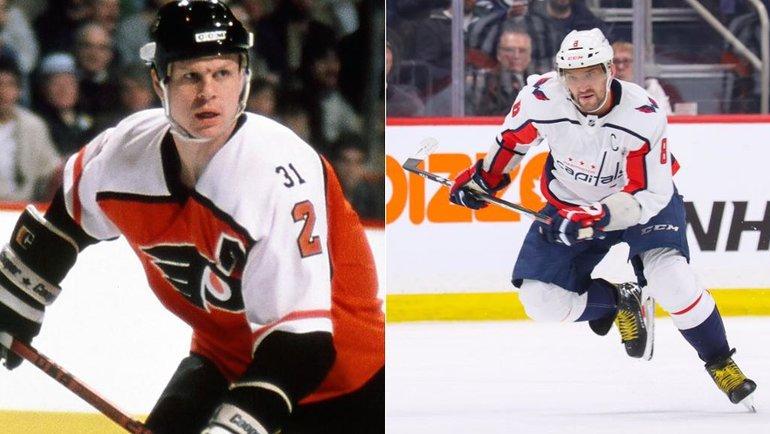 Марк Хоу, Александр Овечкин. Фото коллаж НХЛ