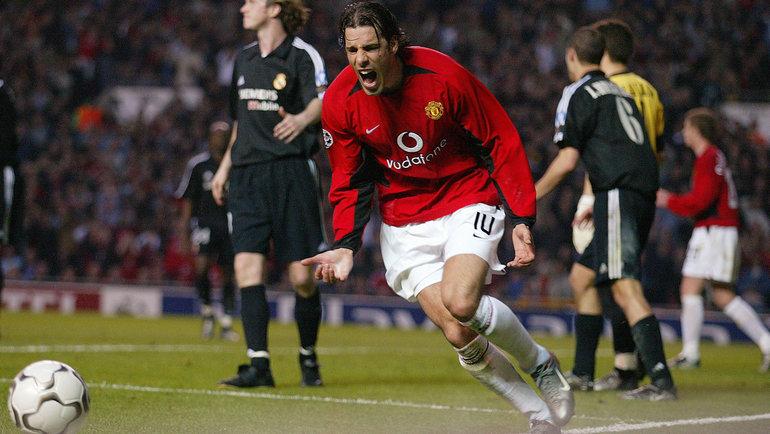 23апреля 2003 года. «Манчестер Юнайтед»— «Реал»— 4:3. Эмоции форварда хозяев Руда ван Нистелроя. Фото Reuters