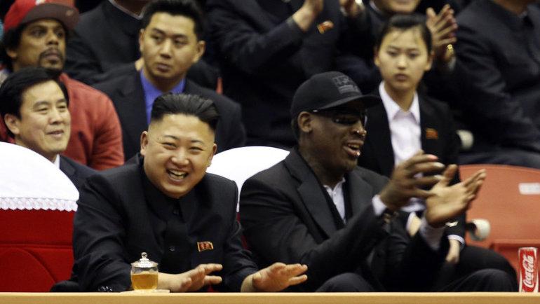 Ким Чен ЫниДеннис Родман. Фото Reuters
