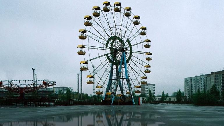 Припять после аварии вЧернобыле: кадр изклипа.