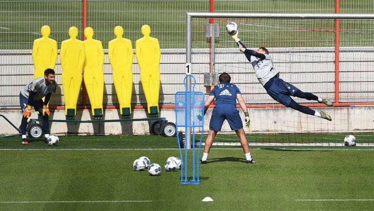 ТренировкаФК «Бавария». Фото Reuters
