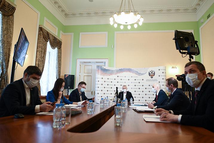 МинспортаРФ вовремя совещания. Фото minsport.gov.ru.