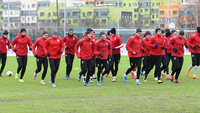 Игроки «Химок». Фото fckhimki.com