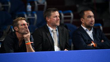 Массимо Каррера, теннисист Евгений Кафельников, агент Марко Трабукки.
