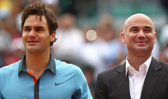 Роджер Федерер иАндре Агасси. Фото Daily Express
