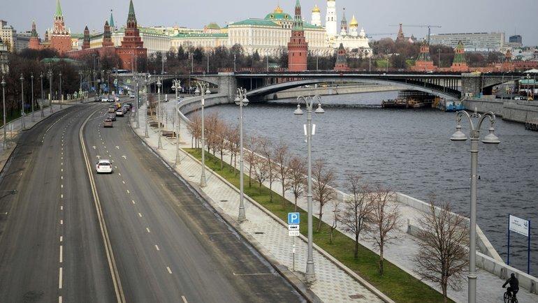 Опустевшая из-за коронавируса Москва. Фото Reuters