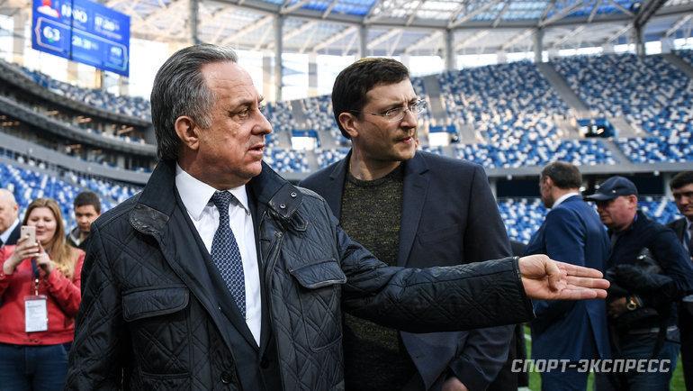 Виталий Мутко (слева). Фото Дарья Исаева, «СЭ»