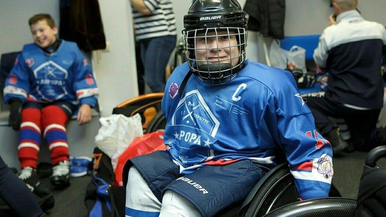 Рафаэль Зиновьев. Фото Следж-хоккейная детская лига