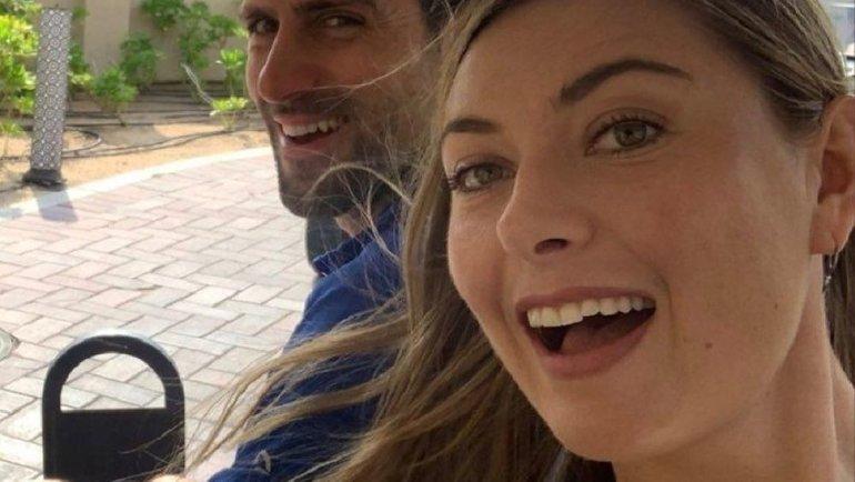Новак Джокович иМария Шарапова. Фото Instagram