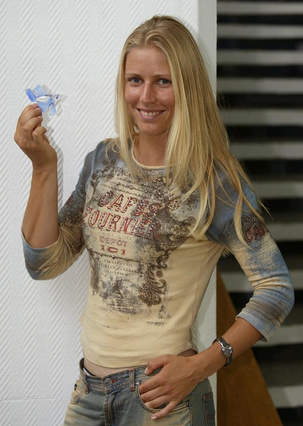 Теннисистка Елена Дементьева. Фото Андрей Голованов и Сергей Киврин