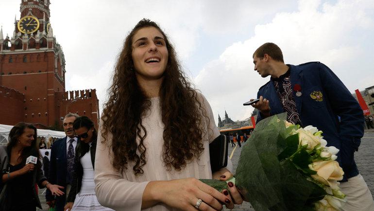 Борец Наталья Воробьева. Фото Андрей Голованов иСергей Киврин