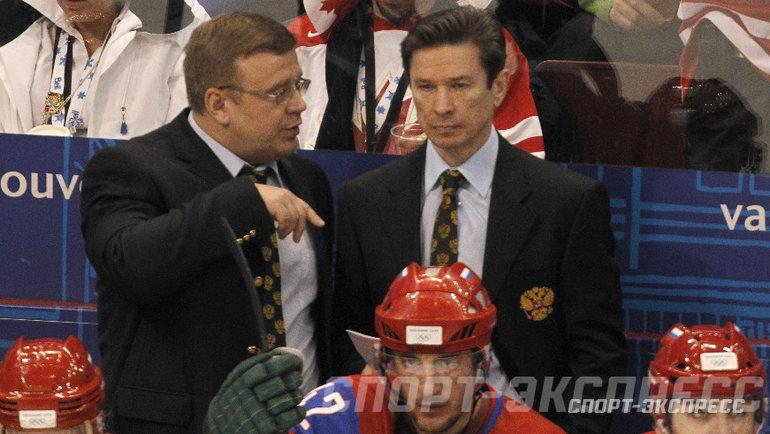 Вячеслав Быков (справа) иИгорь Захаркин. Фото Александр Вильф., «СЭ»