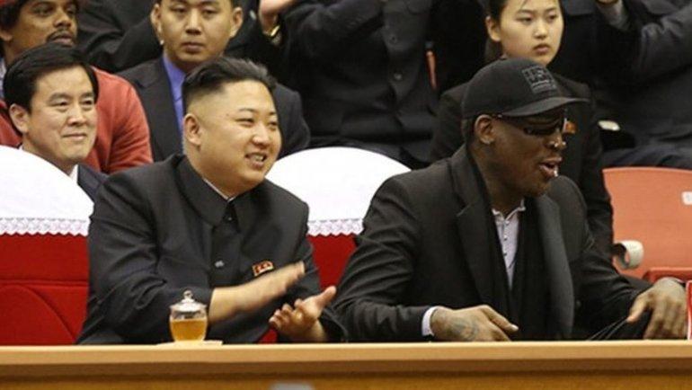 Ким Чен Ын и Деннис Родман. Фото BBC