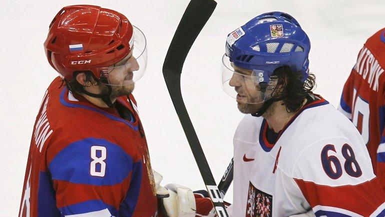 Александр Овечкин иЯромир Ягр. Фото Reuters