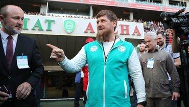 Рамзан Кадыров настадионе «Ахмата».