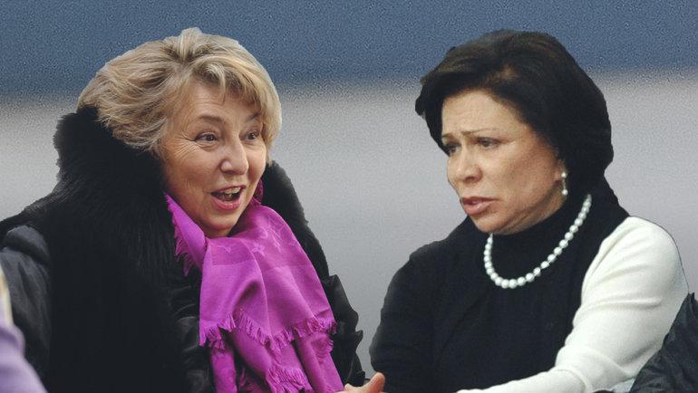 Татьяна Тарасова иИрина Роднина.