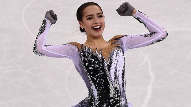 21февраля 2018 года. Пхенчхан. Радость олимпийской чемпионки после короткой программы. Фото AFP