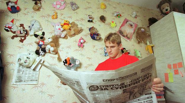 1999 год. Москва. Дмитрий Булыкин. Фото Андрей Голованов и Сергей Киврин, -
