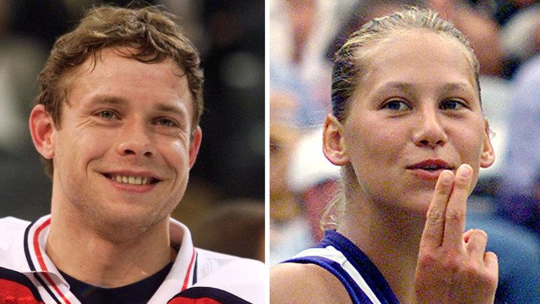 1999 год. Павел Буре иАнна Курникова. Фото Reuters