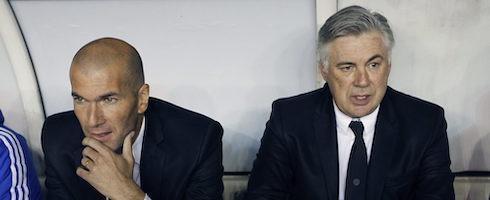 Зинедин Зидан и Карло Анчелотти. Фото EPA