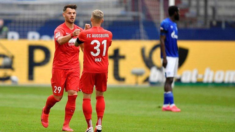 24мая. Гельзенкирхен. «Шальке»— «Аугсбург»— 0:3. 6-я минута. Эдуард Левен (№29) открыл счет. Фото Reuters
