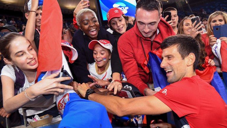 Новак Джокович (справа). Фото AFP0