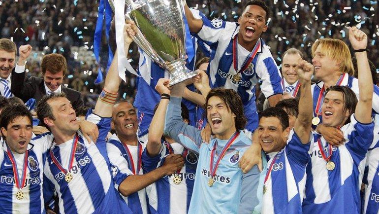 """""""Порту"""" празднует победу в Лиге чемпионов. Фото УЕФА."""