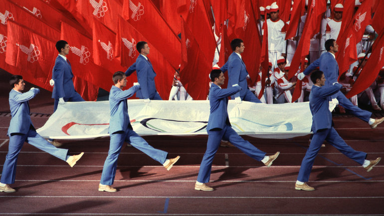 19июля 1980 года. Москва. Церемония открытия Олимпиады. Фото Сергей Киврин, -