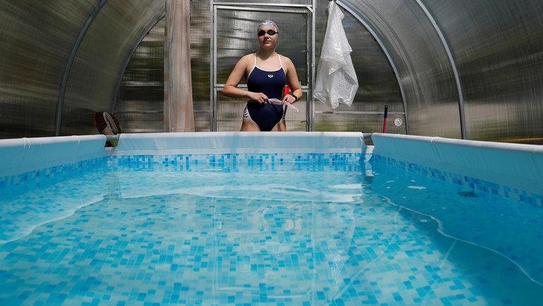 Елизавета Беляева всвоем бассейне. Фото Reuters