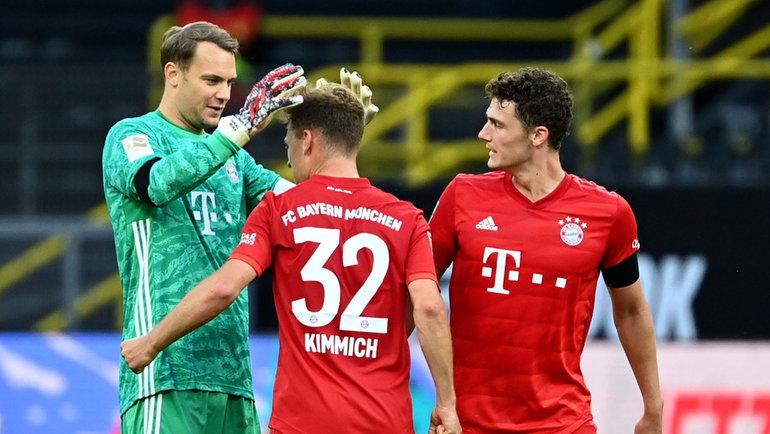 Игроки «Баварии» празднуют победу. Фото AFP