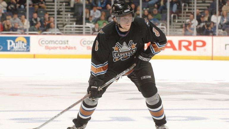Александр Овечкин проводит дебютный матч в НХЛ. Фото nhl.com