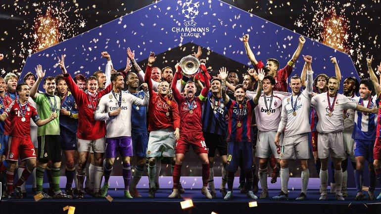 Коллаж победителей Лиги чемпионов. Фото Bleacher Report