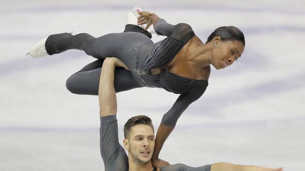 Морган Сипре иВанесса Джеймс. Фото AFP