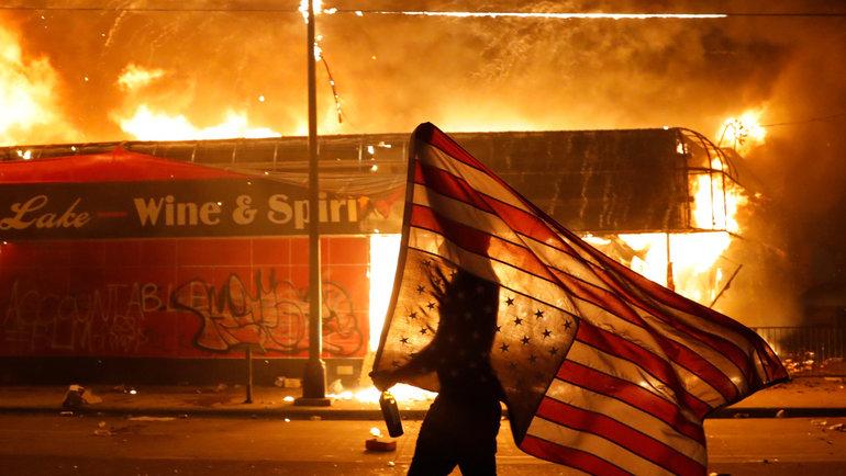 Акции протеста вСША. Фото The New York Times