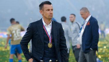 12мая 2019 года. Санкт-Петербург. Сергей Семак после церемонии награждения чемпионов России-2018/19.